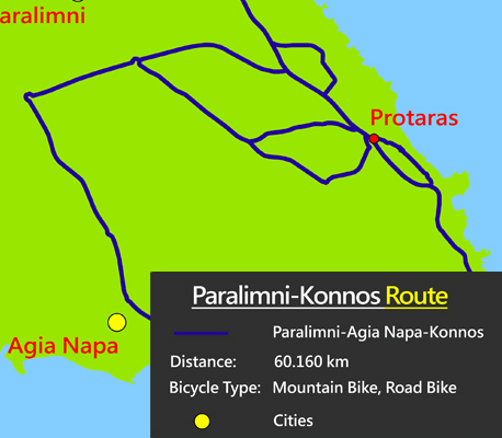 Cyprus famagusta cycling paralimni-konnos route
