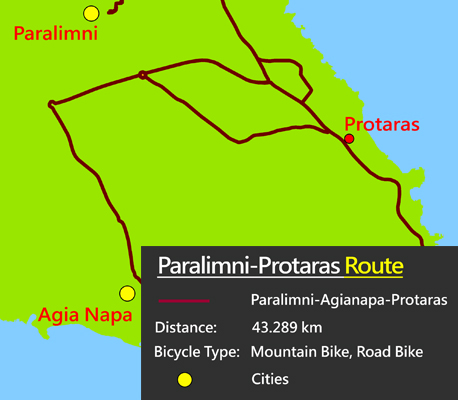 Cyprus famagusta cycling paralimni-protaras route