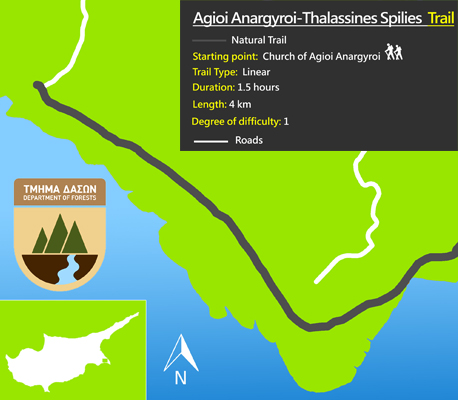 Cyprus walking trails cape greko agioi anargyroi thalassines spilies