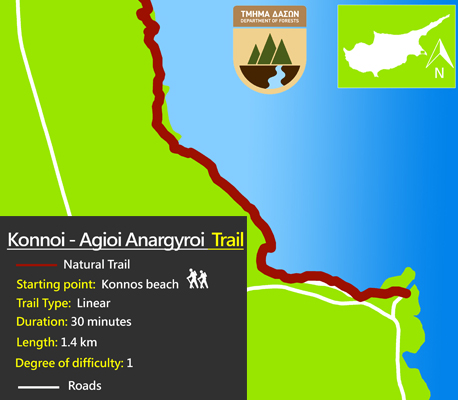 Cyprus walking trails cape greko konnoi agioi anargyroi
