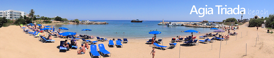 Cyprus beaches protaras agia triada beach