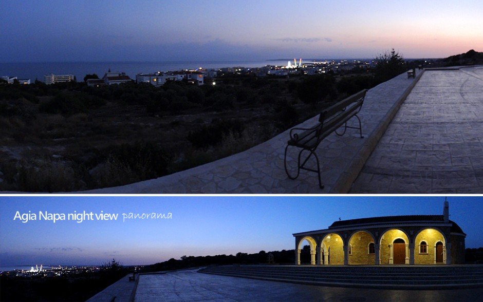 Ayios Epifanios Church and Ayia Napa Night View Point
